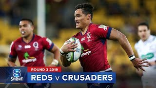 Reds v Crusaders Rd.3 2019 Super rugby video highlights | Super Rugby Video Highlights