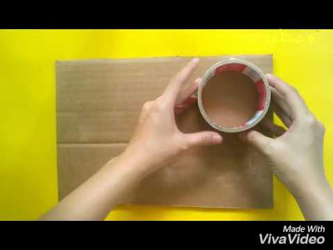 Hướng dẫn làm hộp xinh từ lõi băng keo