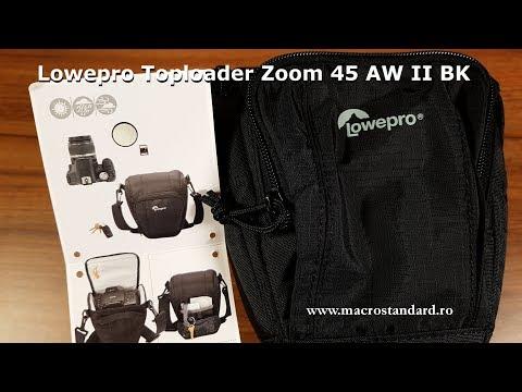 Prezentare adaptor acumulator Prezentare Toc foto Lowepro Toploader Zoom 45 AW II BK