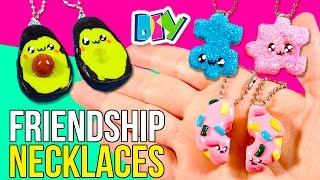 DIY FRIENDSHIPS Necklaces * AVOCADO, PUZZLE & DONUT KAWAII friendship NECKLACES 💞