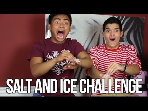 Salt - We did the salt and ice challenge New video every Monday, Tuesday, Thursday, and Friday! Make sure to subscribe to our main channel: http://www.youtube.com/W...