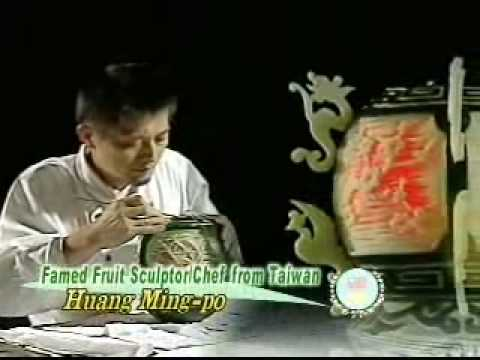 Fruit Sculptor/Chef from Taiwan Huang Ming-po