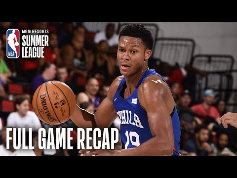 Video: 76ers vs RAPTORS | PJ Dozier Propels Philly to the Win | MGM Resorts NBA Summer League