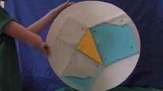 昔授業で教わったピタゴラスの定理が一瞬でわかる動画(43秒)
