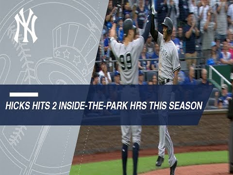 Hicks hits two inside-the-park homers in 2018 (видео)