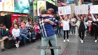 Video Pawel & Antoine's Flash Mob Proposal in Times Square MP3, 3GP, MP4, WEBM, AVI, FLV Agustus 2018