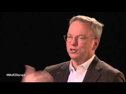 disruptive - Eric Schmidt, Google's executive chairman, examines the role of pervasive technology and the new generation of user-interface theory, including the