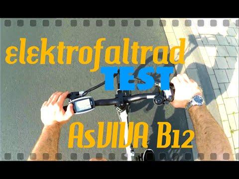 Das AsVIVA B12 Elektro Faltrad: Unboxing Zusammenbau und Test!