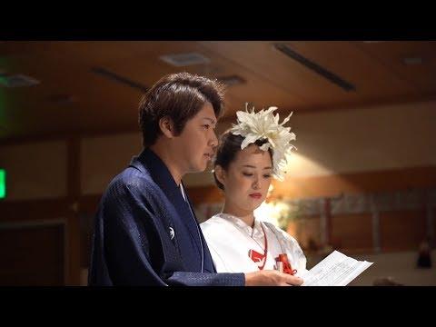 和装がとっても似合うおふたりが誓う神前挙式♡披露宴のエスコートは〇〇と♡