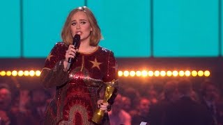 Adele's '25' wins MasterCard British Album of the Year | The BRIT Awards 2016