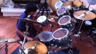 Anthony Lucero freestyle drum solo on DW Midnight Glass custom drum kit.