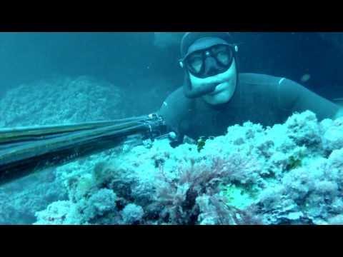 Samuel Tomás, campeón de España de pesca submarina, y la pesca del mero