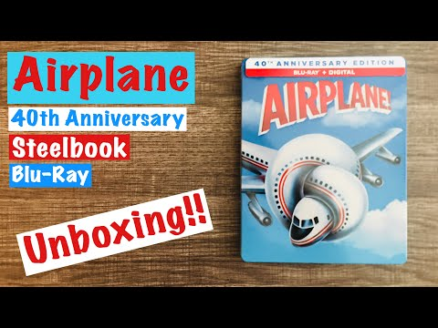 Airplane 40th Anniversary Edition Steelbook Blu-Ray Unboxing!!
