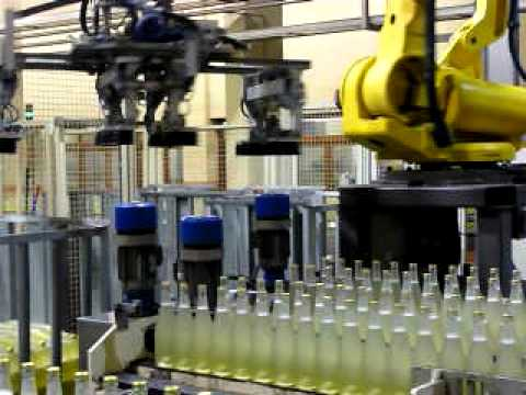 Robotic horizontal bottle pal