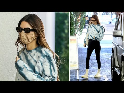 Kendall Jenner Displays Her Enviable Frame In Tight Leggings At The Skin Clinic