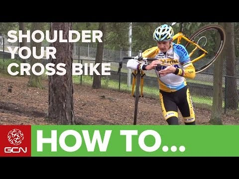 your - Running with your bike on your shoulder is a key part of cyclocross. Bart Wellens gave GCN the pro guide to shouldering your bike. For more cyclocross pro-ti...