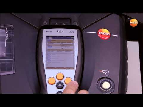 testo 350 Gas Analyser - Step 3 - How to Set Measurement Pro