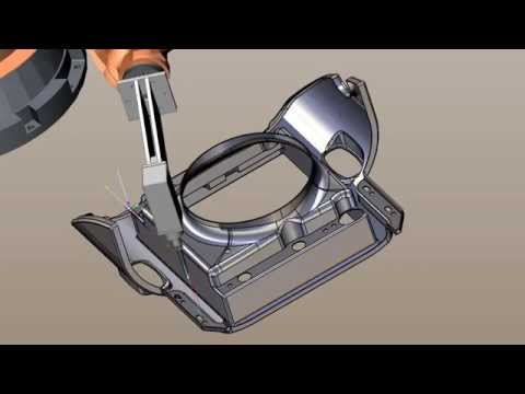 Fiberglass cutting programmed with SprutCAM Robot for KUKA robot