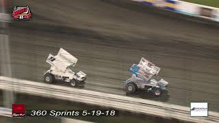 Knoxville Raceway  360 Sprints 5-19-18