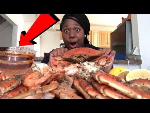CRAB LEGS, SHRIMP, And BLOVES SAUCE |Seafood Mukbang - Thời lượng: 11 phút.