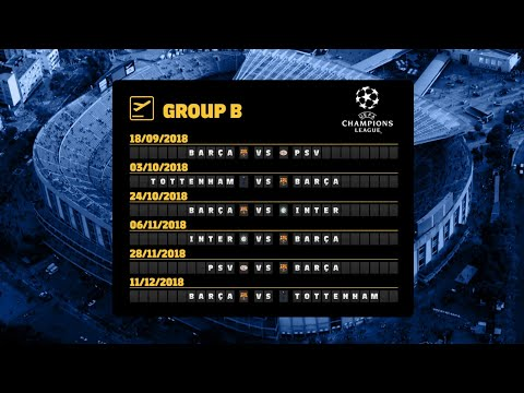 Barça's Fixtures In The 2018/19 Champions League Group Stage