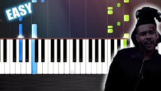 The Weeknd - The Hills - EASY Piano Tutorial  Ноты и М�Д� (MIDI) можем выслать Вам (Sheet music for