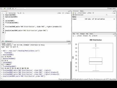 Descriptives for numeric variables