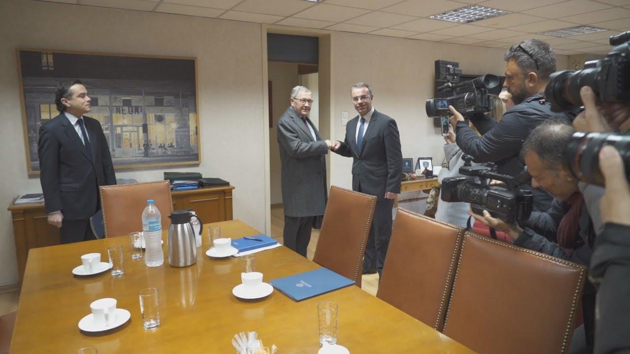 Συνάντηση Χ. Σταϊκούρα με τον εκτελεστικό διευθυντή του ESM Κ. Ρέγκλινγκ