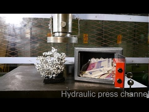 Hydraulic Press Channel - Crushing safe and sculpture with hydraulic press