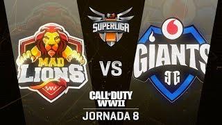 MAD LIONS VS VODAFONE GIANTS - SUPERLIGA ORANGE COD - JORNADA 8 - #SuperligaOrangeCOD8