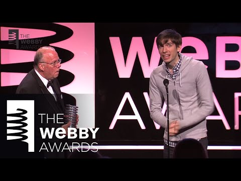 Steve - Tumblr founder David Karp presents Steve Wilhite with the 17th Annual Webby Lifetime Achievement Award for inventing the GIF file format.