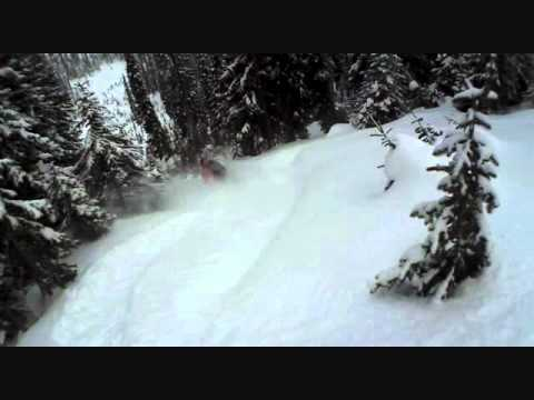 Monashee Powder Skiing Helmet Cam Action