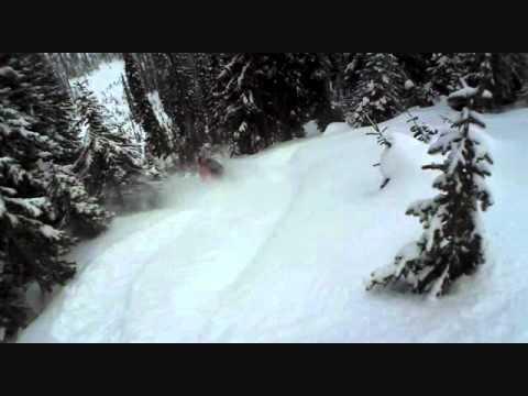 Monashee Powder Skiing Helmet Cam Action