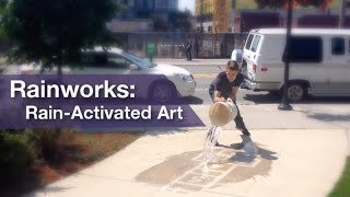 Du street art visible que quand il pleut