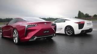 Lexus LFA Supercar Meets LF-LC Concept
