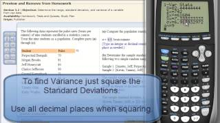 ✅ Variance And Standard Deviation On Calculator Videos - by ...