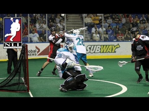 Matt Vinc saves goal to become a 2013 champion_Lacrosse, NLL National Lacrosse League. NLL's best of the week