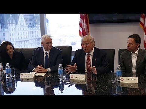 ΗΠΑ: Με τους ισχυρούς άνδρες της Silikon Valley συναντήθηκε ο Ντόναλντ Τραμπ