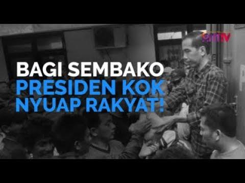 Bagi Sembako, Presiden Kok Nyuap Rakyat!
