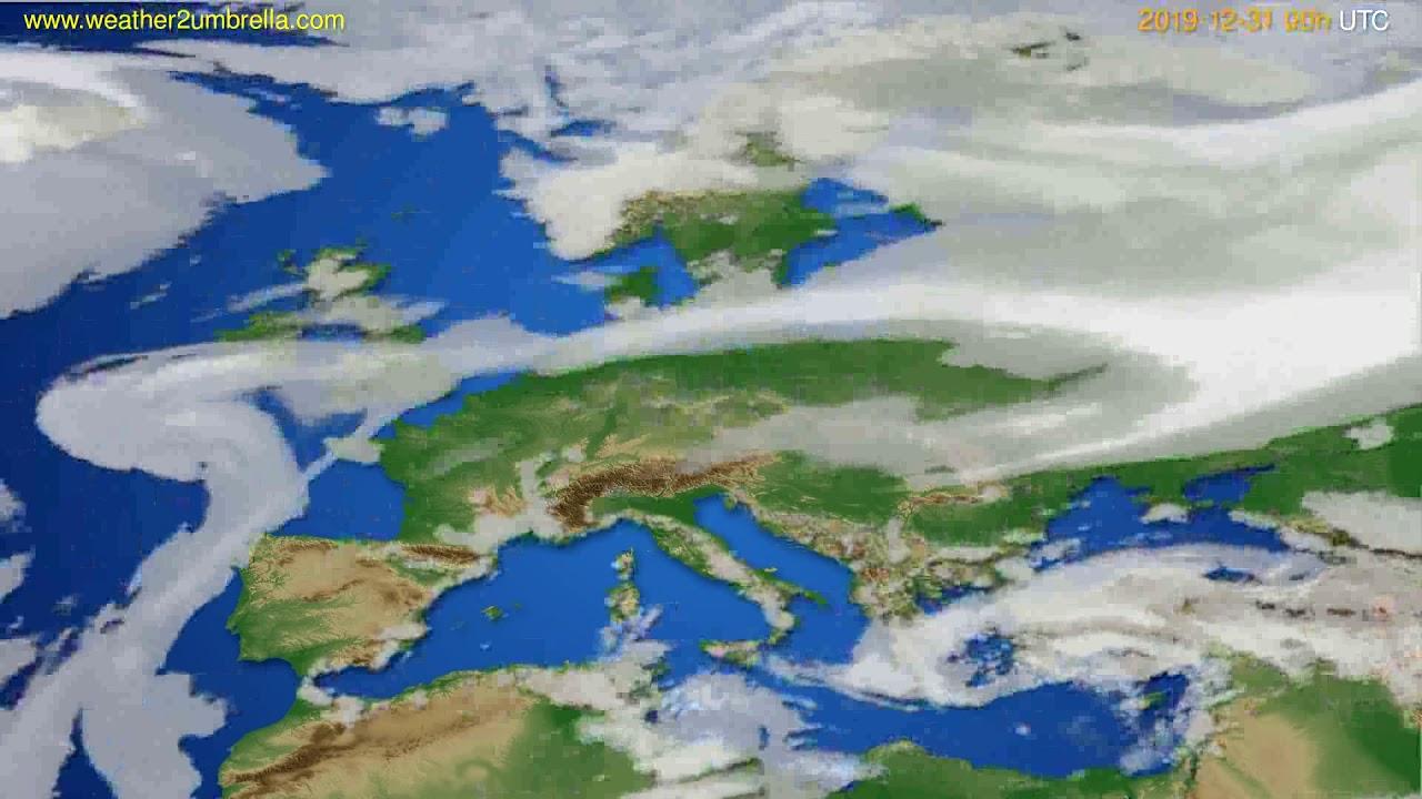 Cloud forecast Europe // modelrun: 00h UTC 2019-12-30