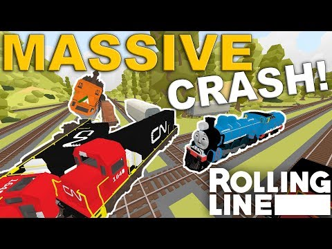 STOP CRASHING PLEASE!  -  Rolling Line VR Toy Train Simulator  -  Map