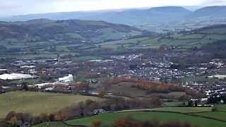 Newtown United Kingdom  city pictures gallery : Newtown Powys,Mid,Wales UK from the hills