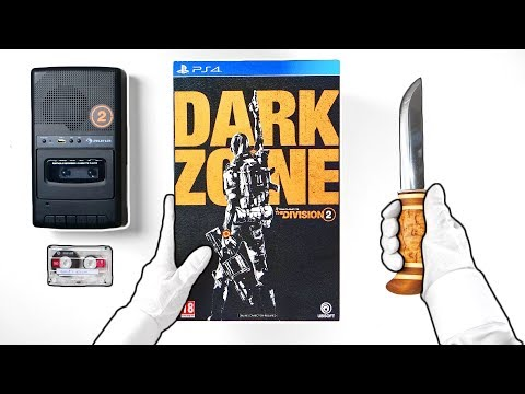 Unboxing The Division 2 Press Kit (Ultra Rare Cassette) + Dark Zone Collector's Edition