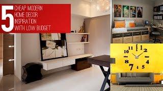 5 Cheap Modern Home Décor Inspiration Video