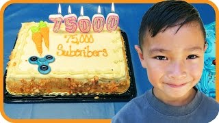 FIDGET SPINNER 75,000 Subscribers Cake, Trampoline Park Celebration with TigerBox HD