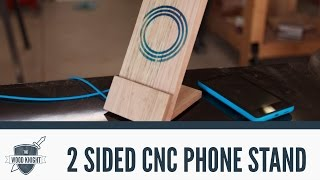 CNC: 2-sided machining to make a wireless phone charger/stand - 061 Video