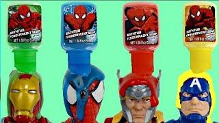 Video Spider Man Bath Paint with SUPERHEROES Ironman, Thor & Captain America MP3, 3GP, MP4, WEBM, AVI, FLV November 2018