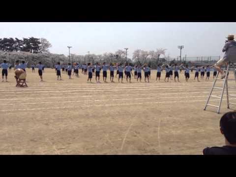 石鳥谷中学校 H26体育祭アピール応援(緑組)