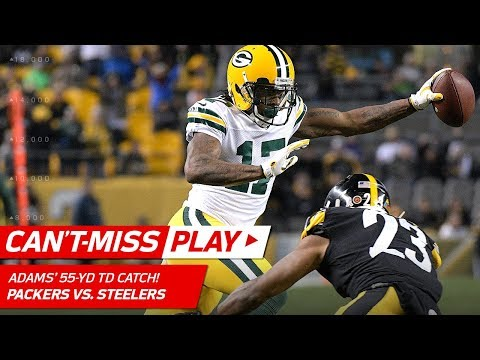 Video: Davante Adams Burns Steelers Defense on 55-Yd TD Catch! | Can't-Miss Play | NFL Wk 12 Highlights
