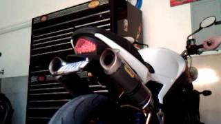 9. 2007 Triumph Speed Triple Arrow exhaust with Baffles Removed